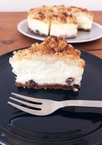 スタバ風!ナッツ&キャラメルチーズケーキ