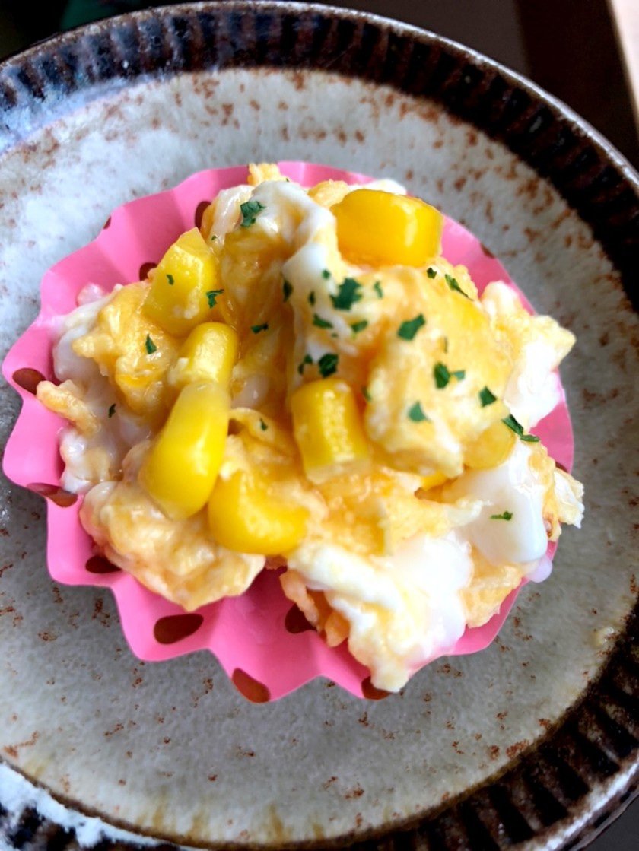 お弁当 卵とコーンマヨ