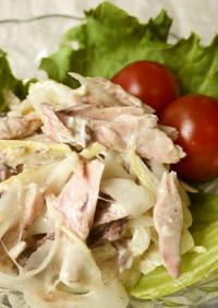 簡単♪鰹なまり節と新玉葱のサラダ
