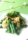 春!菜の花とふんわり卵の炒め物