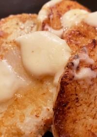 長いものバター醤油焼きとろけるチーズのせ
