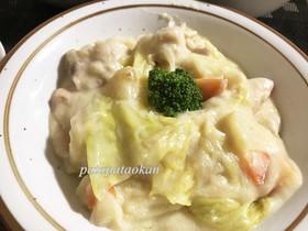 鶏モモ肉とキャベツのクリーム煮