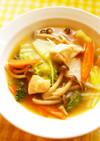 ☺鶏肉とたっぷり野菜の簡単食べるスープ☺