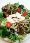 舞茸のソテー 蒸し鶏 レタス サラダ