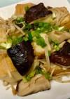 椎茸と榎茸と厚揚げのしょうゆバター焼き