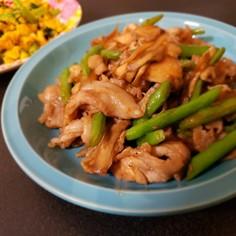 舞茸といんげんの豚肉炒め