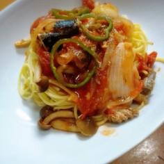 クィーンクック☆鯖とトマトのパスタ