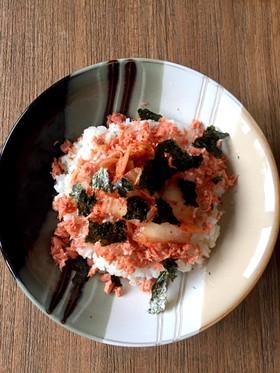 鮭フレークキムチ丼