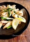 鶏胸肉のネギ塩レモン炒め