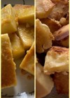 高野豆腐でフレンチトースト風と唐揚げ風