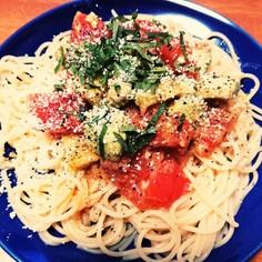 絶品!トマトとアボカドの冷製パスタ
