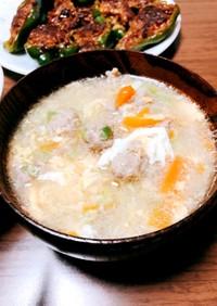 中華風 肉団子と卵のスープ