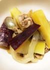 さつま芋と豚肉の煮物