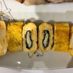 海苔チーズの卵焼き
