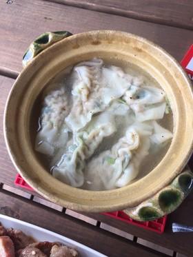 小松菜ワンタンスープ