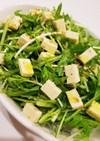 時短!水菜とチーズのサラダ