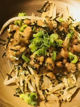 毎日の納豆●納豆ともやし炒めの前菜