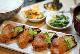茄子と鶏肉の酢味噌かけ☆