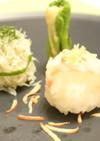 タイとシラスの手まり寿司