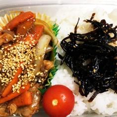 超楽々 弁当用 韓流豚生姜炒め 作ります