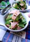 5分副菜♪小松菜とハムの中華サラダ