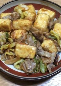 春キャベツと豆腐の中華風炒め