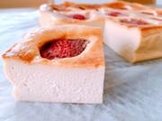 苺トピのベイクドチーズケーキの写真