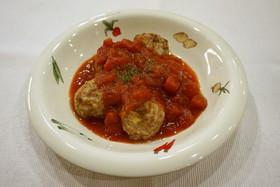 つなぎなしヘルシーミートボールのトマト煮
