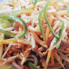 豚肉と野菜の五目塩炒め