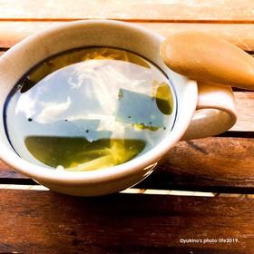 えのきとワカメの玉子スープ
