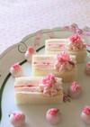 桜餡クリームといちごのサンドイッチケーキ