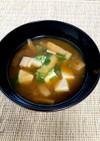 簡単!基本の豆腐とあげの味噌汁