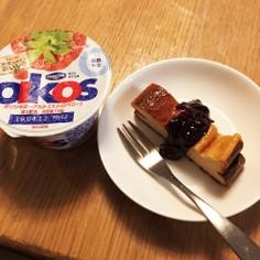 オイコスで!簡単すぎるチーズケーキ風♡