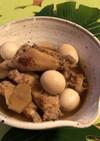 鶏手羽とうずらの照り煮