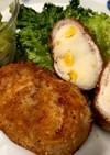 マッシュポテト&薄切り肉でコロッケ風