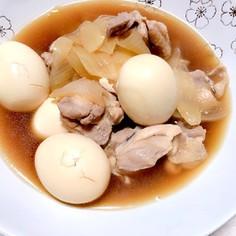 鶏モモ肉と卵のこっくり煮