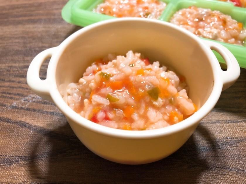 【離乳食】野菜たっぷりチキンライス