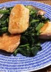 鮭とほうれん草のバター醤油炒め
