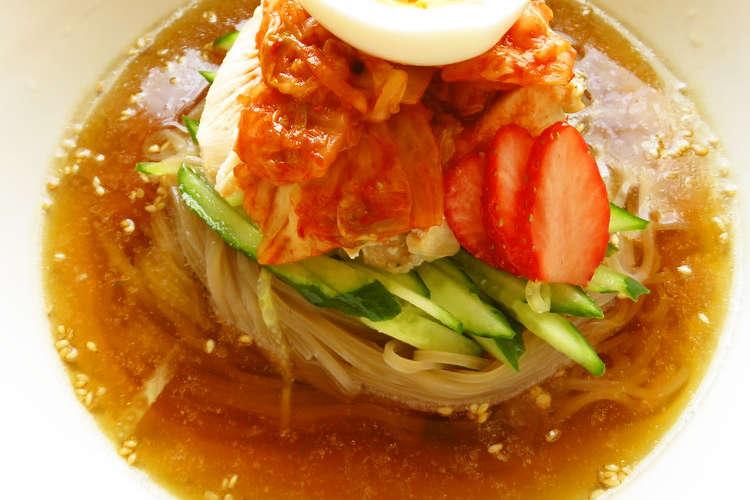 冷 レシピ 韓国 麺