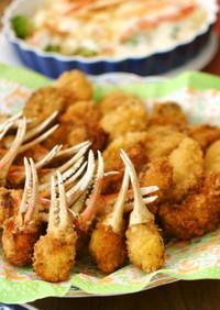 お花見に!海鮮フライ2種 カニ爪と牡蠣