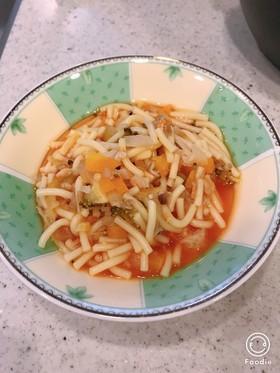 炊飯器で離乳食♡野菜たっぷりトマトパスタ