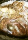 桜鯛と桜の花(塩漬け)の炊き込みご飯