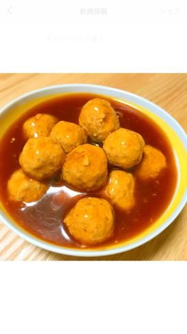 ♡ 甘酢ダレの肉団子 ♡