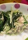 水菜とサバ缶の和風マヨサラダ♩