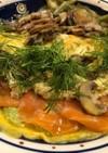 アボカドサーモンタルタル卵包み