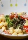 レタス・大豆・トマトの濃厚サラダ♪