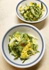キュウリと白菜の酢の物