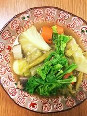 鯖缶で春野菜のカレーポトフの写真