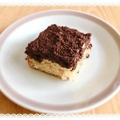 クランブルが香ばしい*チョコバナナケーキ