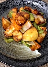 鶏と野菜の甘酢あん